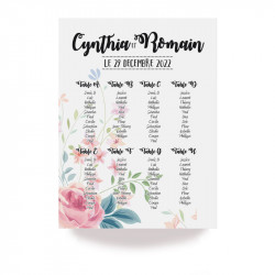 Table plan flower wrap