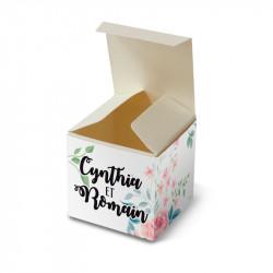 Boite de dragée fleurs wrap