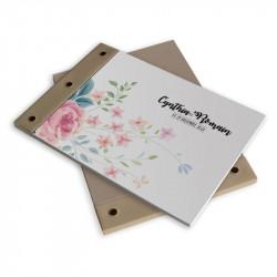 Livre d'or mariage fleurs wrap