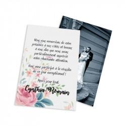 Classic thank you card fleurs wrap