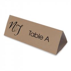 Nom table vintage dentelle