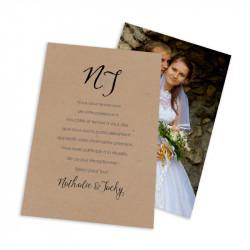 wedding thank you card dentelle lace