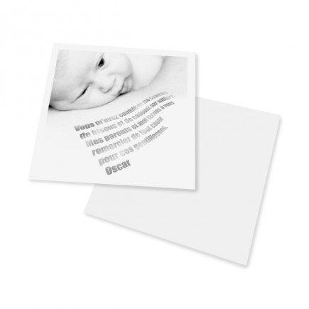 Birth thank you card mento