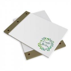 Livre d'or mariage feuille vert