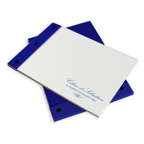 Wedding book blue lace