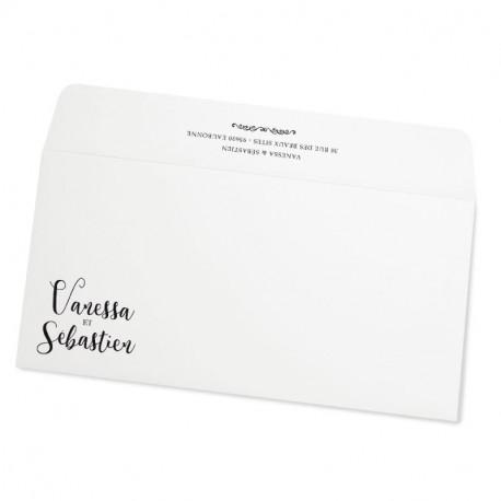 Wedding envelope white champetre