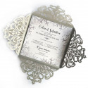 Wedding invitation winter lace