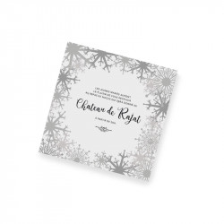 Dinner card winter lace