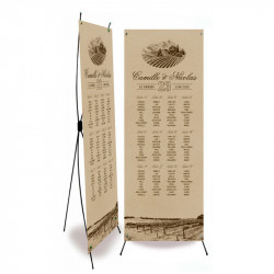 Table plan banner vigneto