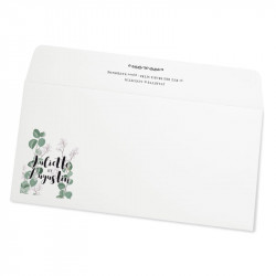 Wedding envelope eucalyptus champertre