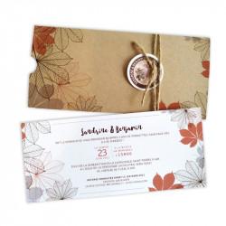 Wedding invitation autumn pocket