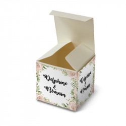 Wedding favour box dentelle rose