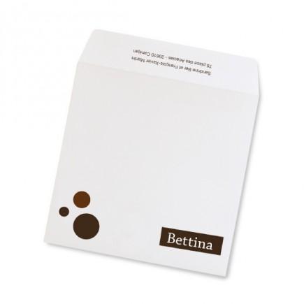 Birth announcement envelope polka dot