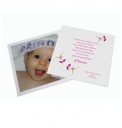 Birth thank you card carrés