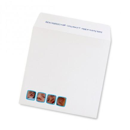 Enveloppe naissance squares