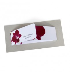 Wedding invitation orchid wrap
