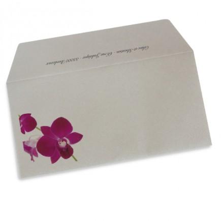 Enveloppe mariage orchidée wrap
