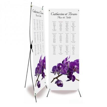 Plan de table mariage orchidée violette wrap