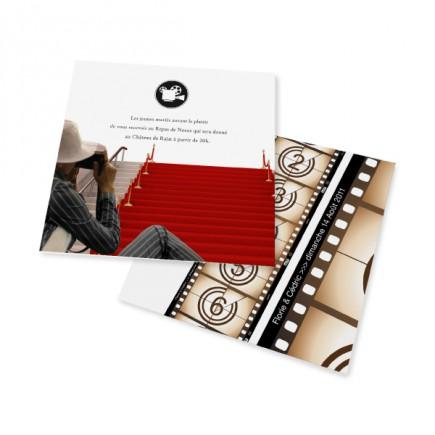 Carton d'invitation festival de cinéma