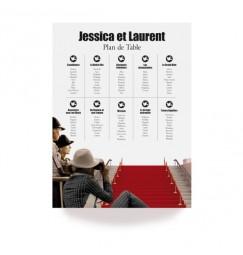 Plan de table festival de cinéma