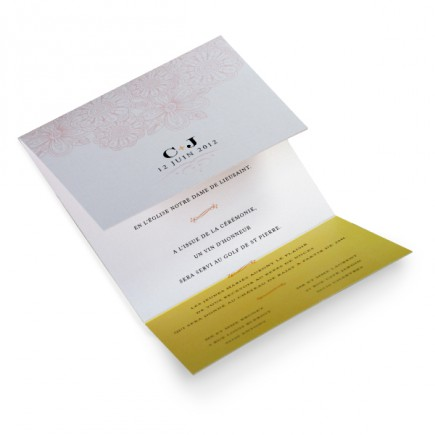 Wedding invitation flori
